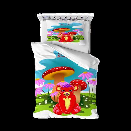 Leola Red Panda Toddler Duvet Cover/ Matching Pillow