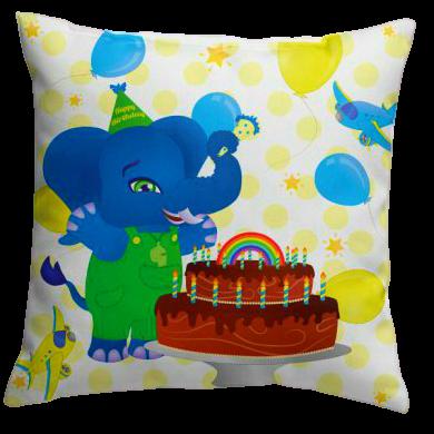Wolli Ele-Birthday Pillow