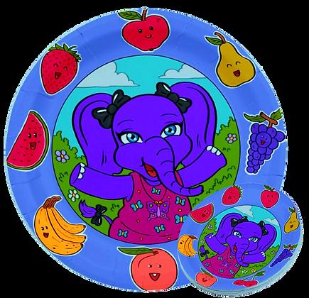 Lolli Fruit Paper Plate/8 Ct