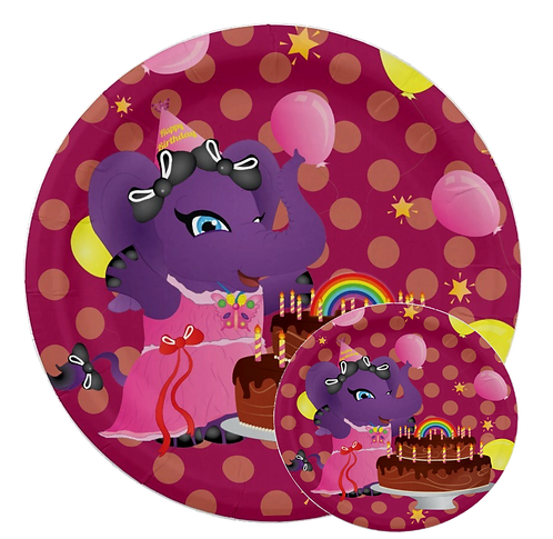 Lolli Birthday Party Plates, 8 Ct