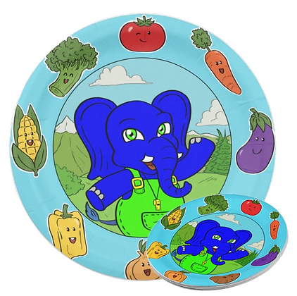 Wolli Vegetable Paper Plate/8-Ct