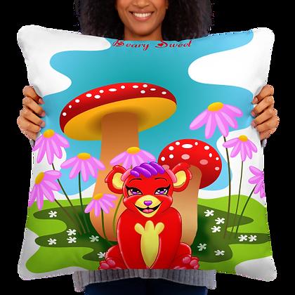 Leola Red Panda Fruity Land  Pillow