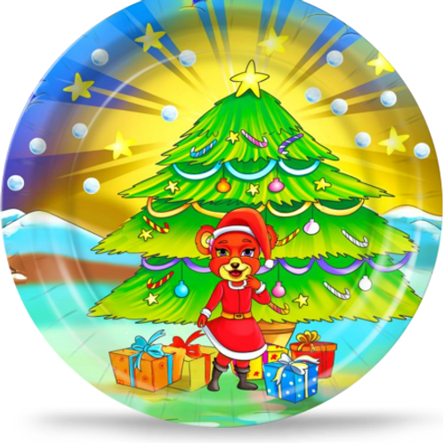 LolliWolliWorld Christmas Party Plates