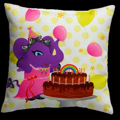 Lolli Ele-Birthday Pillow