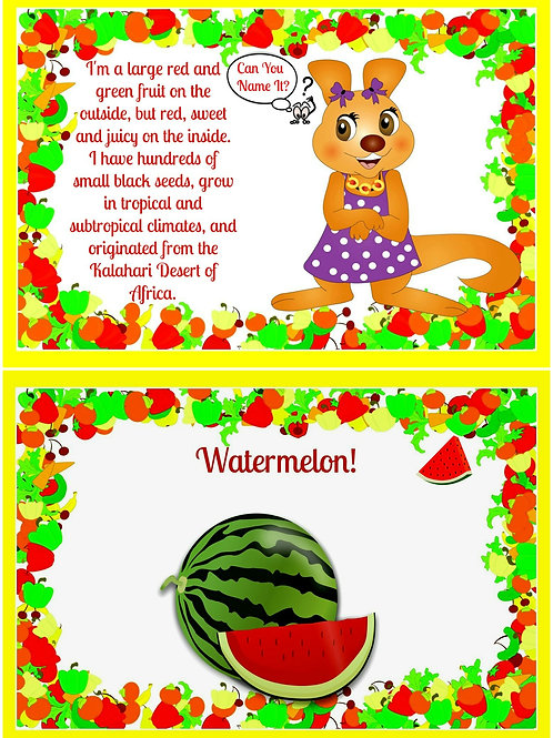 Lolliwolliwonder™ Can You Name It? Fruit & Vegetable Card Game