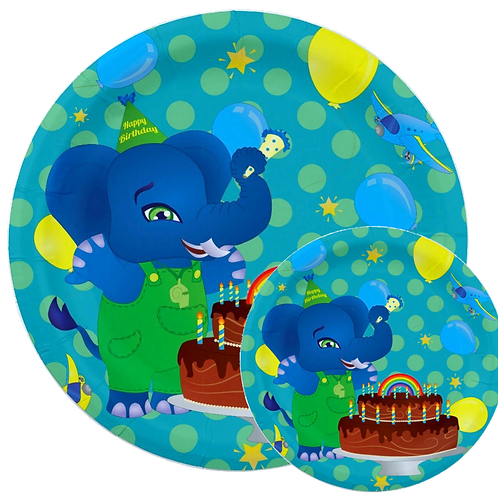 Wolli Birthday Party Plates, 8 Ct