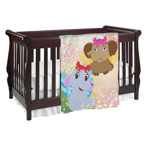 Merri & Sherri Elephants Baby Blanket