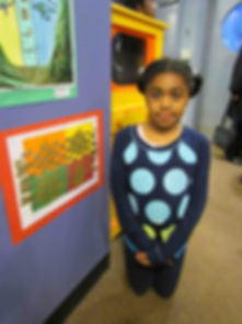 Stewart Manor third-grader Miyah House is among 35 Elmont School District students whose artwork is on display in the Community Gallery at the Long Island Children's Museum for the month of April.
