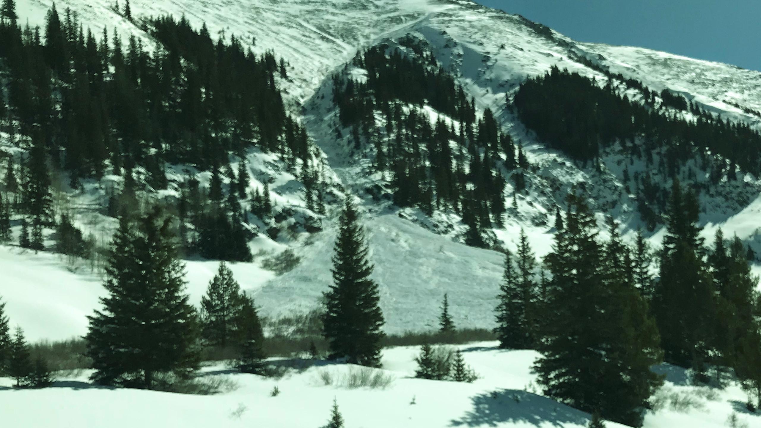 Avalanche at Mirror Lake