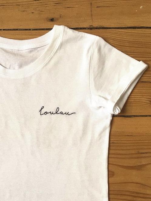 Tee-Shirt Brodé personnalisé - Adulte