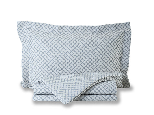 Hale bedspread and cushion cover in grey