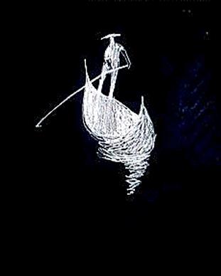 Tableau représentant un gondolier vénitien