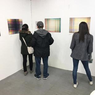 Visitors to Waltham Mills Open Studioas