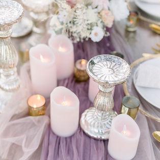 LED Pillar Candles (Blush)