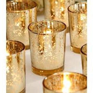 Mercury Gold Candle Votive