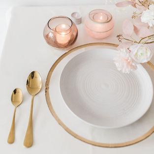 Gold Foil Rim Charger Plates