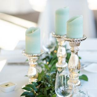 Flameless Flickering Pillar Candles (Mint)