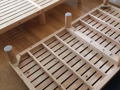 日本製のすのこベッド 納品事例