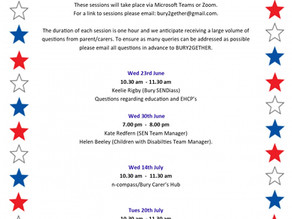 Question and answer schedule and booking for parent/carers