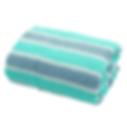 ผ้าเช็ดตัว สีเขียว-เทา
