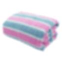 ผ้าเช็ดตัว สีชมพู-เทา