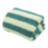 ผ้าเช็ดตัว สีเขียว-ครีม