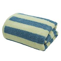ผ้าเช็ดตัว สีน้ำเงิน-ครีม