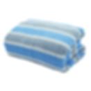 ผ้าเช็ดตัว สีฟ้า-เทา