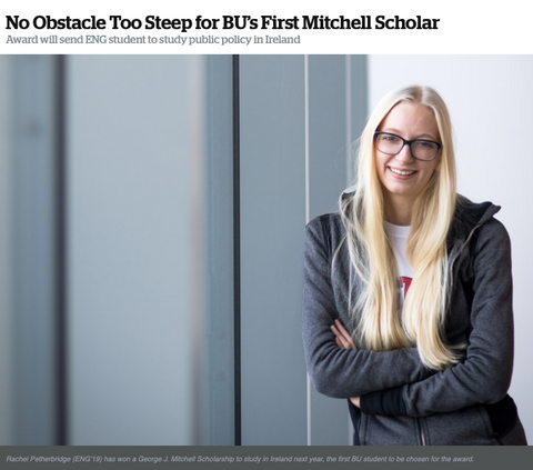 Rachel Petherbridge wins prestigious Mitchell Scholarship