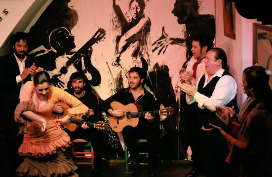 FONDO ESCENARIO TABLAO FLAMENCO LOS GALLOS