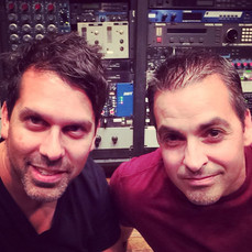 Tom and Tom in the studio