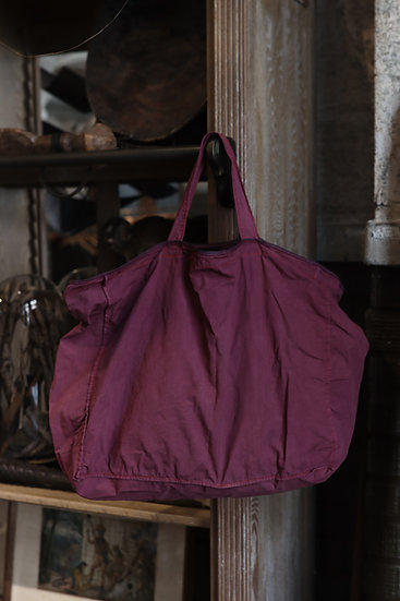 CP COTTON BAG-LEATHER PIPING