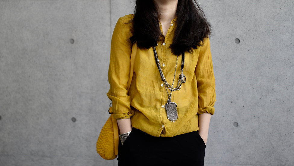 CP STAND COLLAR BLOUSE