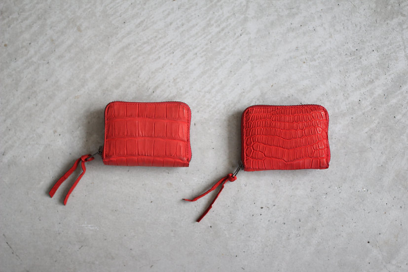 CP WALLET S-Red Crocodile