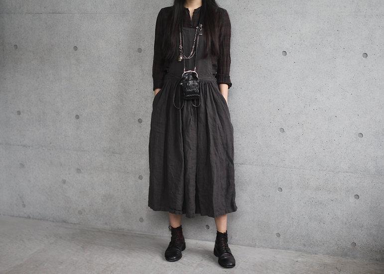 CP APRON DRESS-LINEN