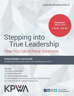 Stepping into True Leadership