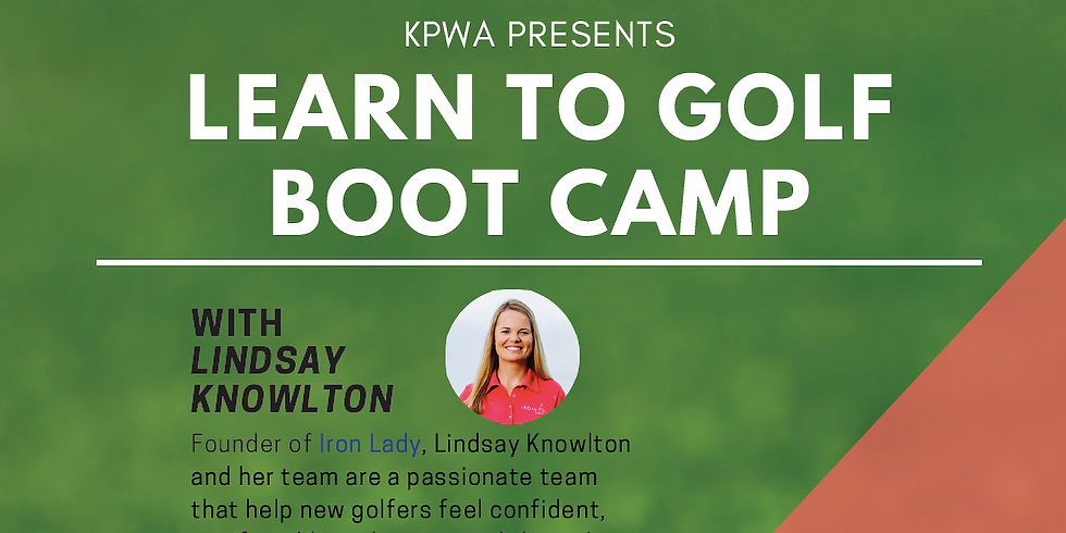 Learn to Golf Boot Camp with Iron Lady Lindsay Knowlton