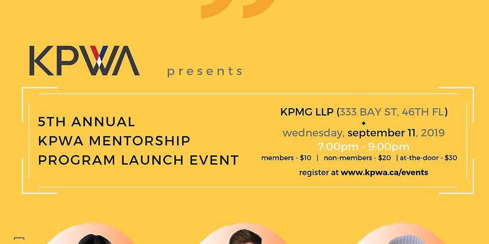 5th Annual KPWA Mentorship Program Launch Event
