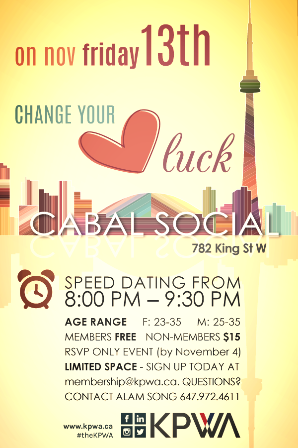 Change Your Luck: Speed Dating