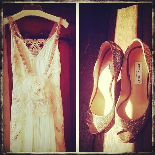 Instagram - Stunning dress & the 'choo's'#bohobridal #stunningdresses
