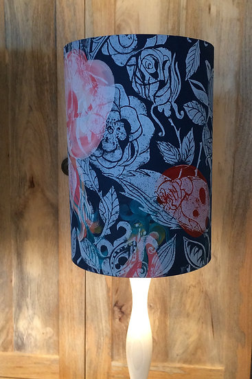 Giant Ladybird in the Rose on Navy Blue  Lampshade