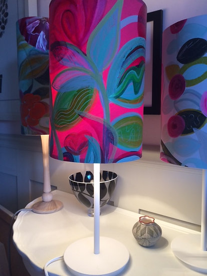 Hot Pink Summer Garden Lampshade