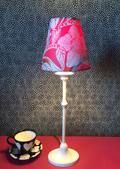 Candle Raspberry Hellebore lampshade