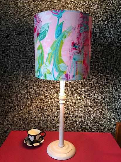 Pink Summer Garden Table Lamp