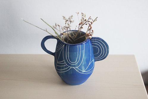 Vase graphique à anses