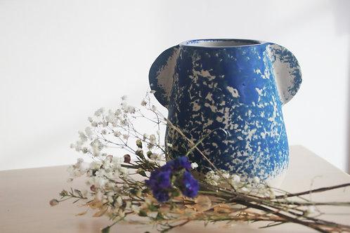 Vase  moyen à Oreilles bleues
