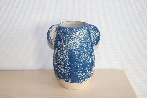 Vase à Oreilles Bleues