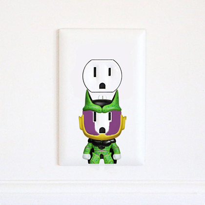 Dragon Ball Z - Cell - Goku - Vegeta - DBZ - Electric Outlet Wall Art Sticker De