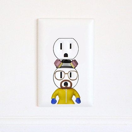 Walter White - Heisenberg - Breaking Bad - Electric Outlet Sticker