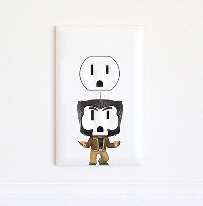Wolverine | X-Men | Electric Outlet Wall Art Sticker Decal
